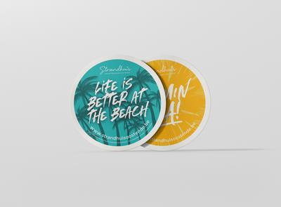 "Marketing campaign ""Strandhuis"" graphicdesign businesscard promotion marketing branding card weblounge"