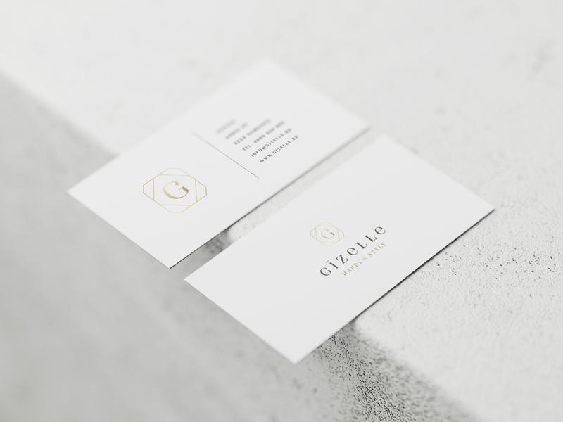 Logo design Gizelle fashion store businesscard branding logo design logo graphicdesign logodesign weblounge
