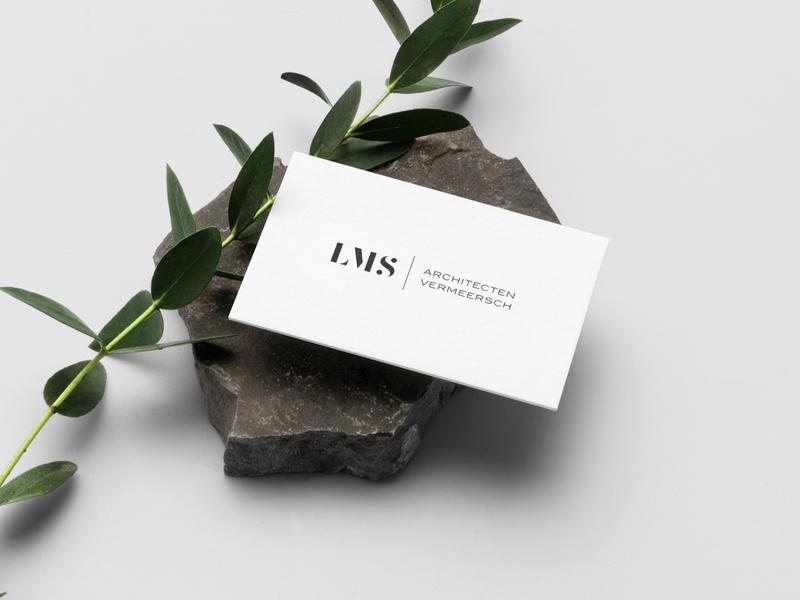 Logo design for Architects Vermeersch architects businesscard branding logo logo design graphicdesign logodesign weblounge
