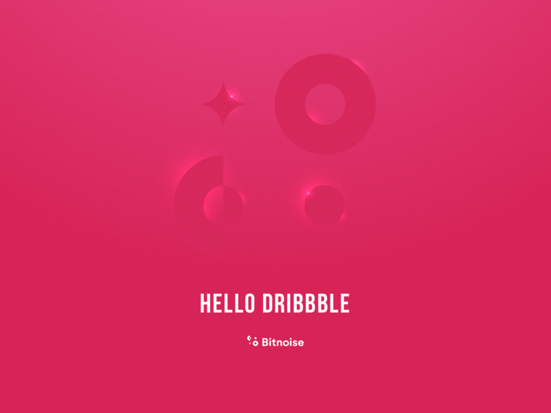 Hello Dribbble design bitnoise hello dribble firstshot