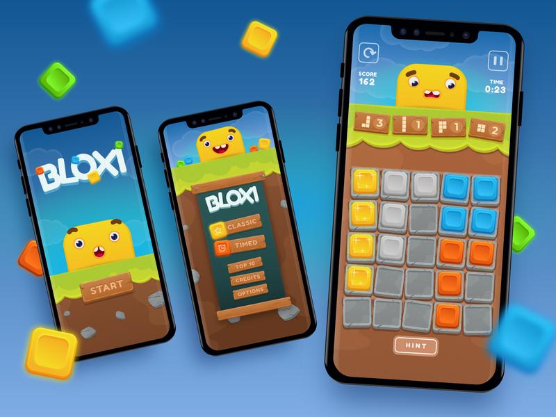 Bloxi - iOS mobile game gamedesign illustration bloxi design development app design bitnoise