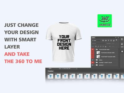 360° Animated T-shirt Mock-Up