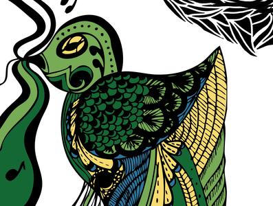 Bauhaus Bird design illustration vector colour pattern