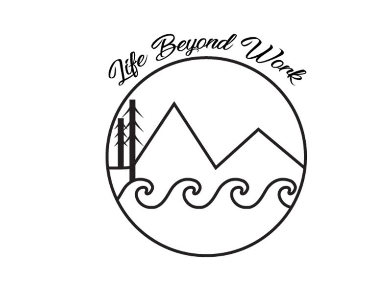 Life Beyond Work Retreats travel design pattern illustration logo icon branding