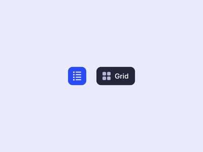 Grid / List view toggle codepen motion micro interaction ux css interface ui animation switch button toggle list grid