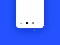 Liquid tab bar gsap codepen button ux micro interaction interface ui animation motion concept hold press bounce app mobile tab bar morph liquid