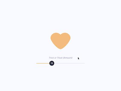 🎃 Love trickortreat halloween gsap button codepen motion micro interaction css interface ux ui animation heart toggle pumpkin love