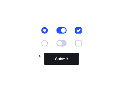 Liquid UI Elements css motion animation interface ux micro interaction form svg gooey codepen gsap fluid button radio checkbox toggle switch elements ui
