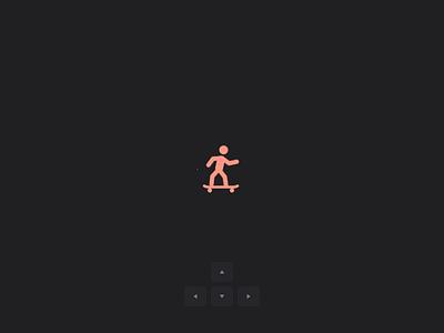 🛹 Interactive loading micro interaction animation interface motion shortcuts keyboard load skate gsap css html codepen ui design microinteraction interactive loading web app ux ui