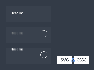 SVG CSS3 Menu icon animation by Aaron Iker on Dribbble