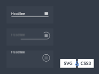 SVG CSS3 Menu icon animation