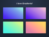 I love Gradients!