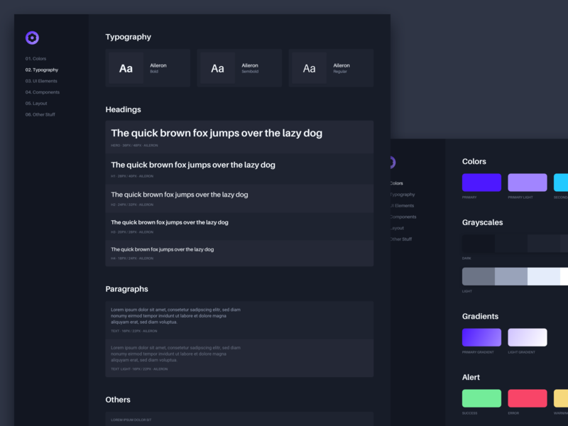 Styleguide Typography for CMS