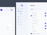 Light CMS Admin Interface