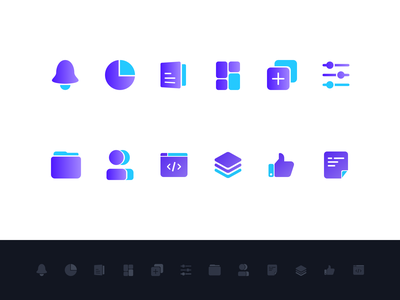 Icons for CMS extend dev code files icon controls layers content chart bell cms icons