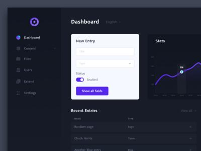 CMS Dashboard Interface