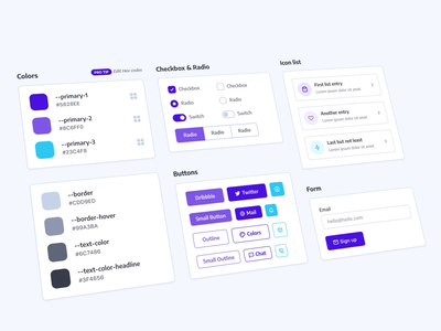 Free UI Kit for #CodePenChallenge form toggle switch radio checkbox interface freebie css codepen buttons colors user interface ui ui kit