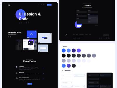New Portfolio 2019 figma codepen micro interaction ux concept website design website personal screendesign design webdesign web logo motion interface ui portfolio