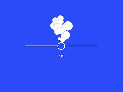 Smoke Slider ux motion animation interface micro interaction js css codepen intensivity smoke input form ui range slider