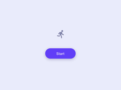 Running man + button button user interface run loading loader tracking fitness codepen motion micro interaction ux css animation interface ui