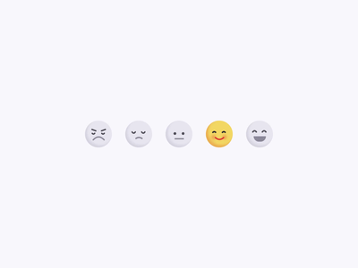 Feedback Reactions codepen motion micro interaction ux css animation interface ui rating reaction smiley emoji feedback