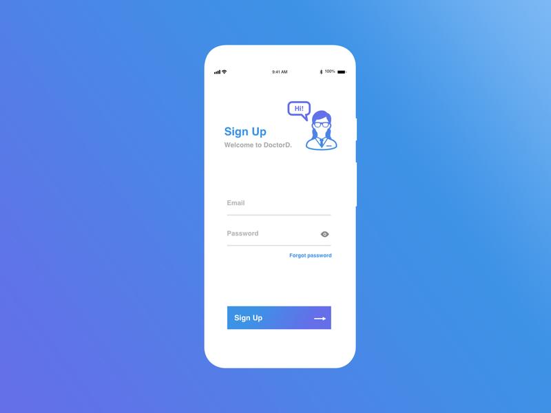 Sign Up - Daily UI #001 application web ui app design dailyui design dailui app