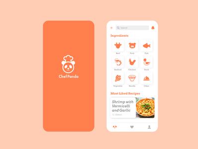 Landing Page - Daily UI #003 website design recipe icon web ui dailui dailyui application app design app