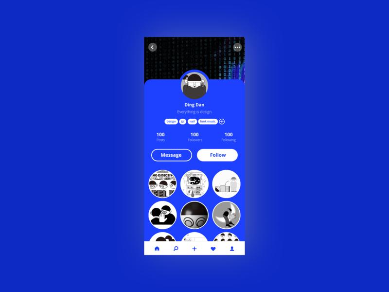User Profile - Daily UI #006 design application ui dailui dailyui app design app