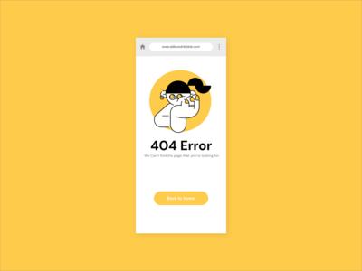 404 Page - Daily UI #008 404 error 404 404page web ui design dailyui dailui app design app