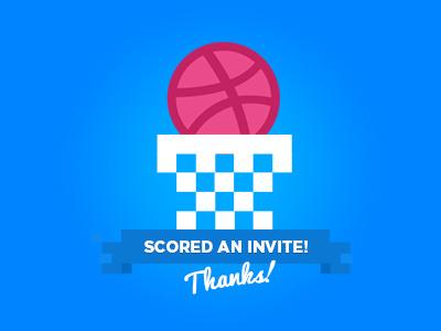 We just scored an invite 2 basketball invite friends dribbble