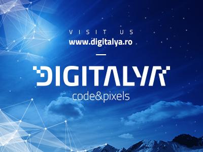 Website Invite digitalya new website invite blue sky mountains logo tech web design