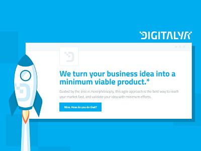 Step 1 - Done! lean build iteration lightbulb circle digitalya idea mvp startup