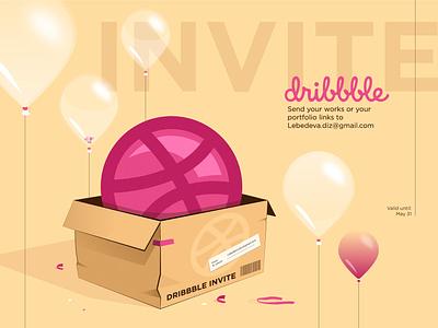 Dribble invite illustrator dribbble follow invite 2020 illustration