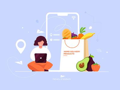 Delivery online delivery 2020 illustrator illustration design