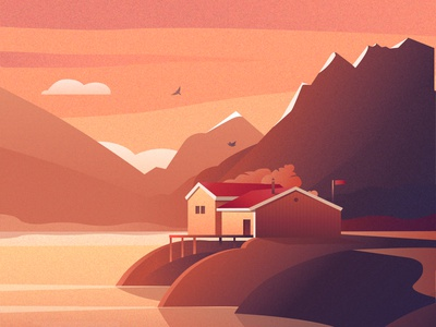 Country house on the out of Earth. My unrealized dream. nature best design vector mountain lake dreams illustration dream