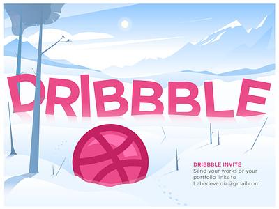 Dribble invite best illustration illustrator illustration invite