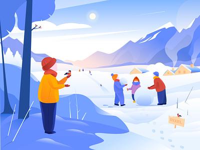 Winter holidays happy new year happy holidays holidays children 2020 best illustration vector dreams illustrator illustration