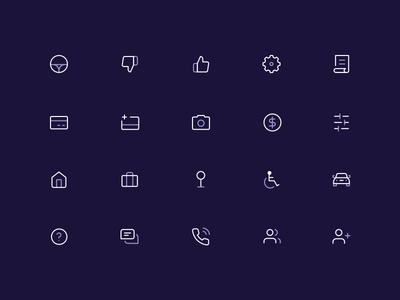 Icon Set ridesharing custom icons app design app iconography mobile ui ui design illustration icon pack icons icon set
