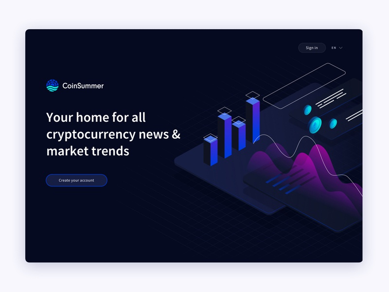 Landing Page Design data illustration data visualization custom illustration dark theme crypto illustration illustration web app web design landing page ethereum bitcoin cryptocurrency