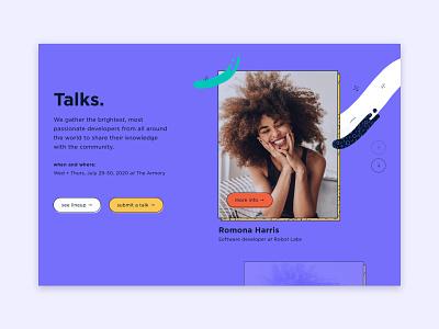 Slider Style Explorations slider slider design color palette bright color ux branding design ui conference illustration
