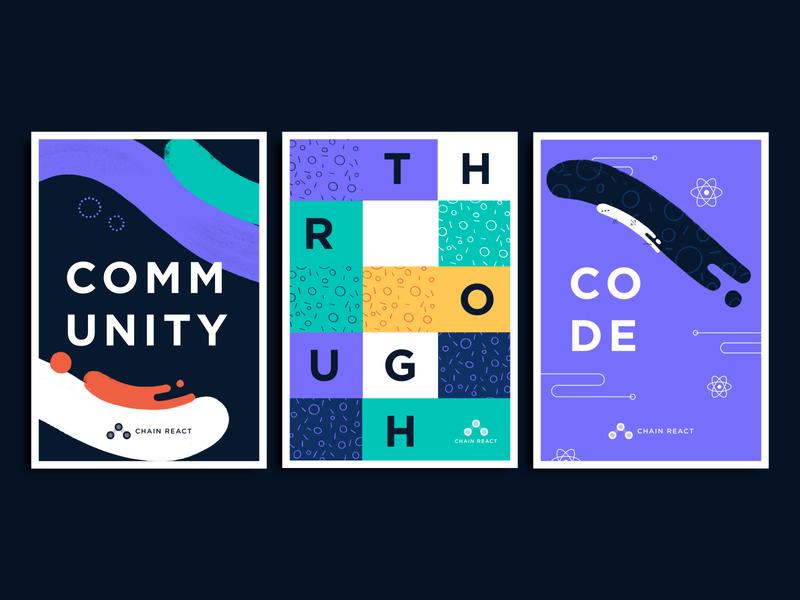 Poster Styles poster design posters mural developer technology color palette patterns print design mockup illustration conference branding