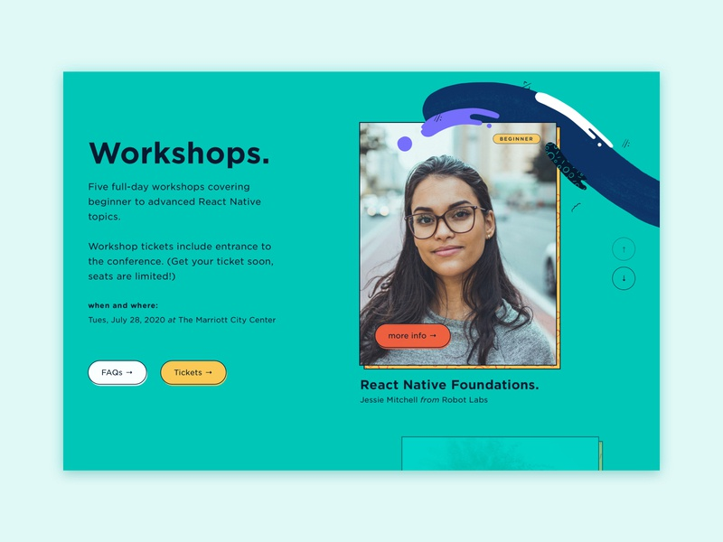 Slider experiment with alt colors webflow abstract illustration development react native pattern design patterns color palette web illustration illustration workshops website conference web web design slider