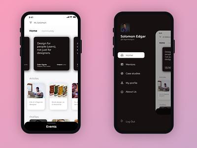 Dear Designr App concept app ui design