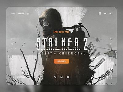 S.T.A.L.K.E.R. 2 Homepage homepage user interface ux clean concept illustration website stalker gaming langing page landing design web design ui