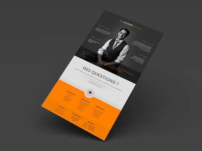 UX / Design landing page Dr. Jacques Haddad