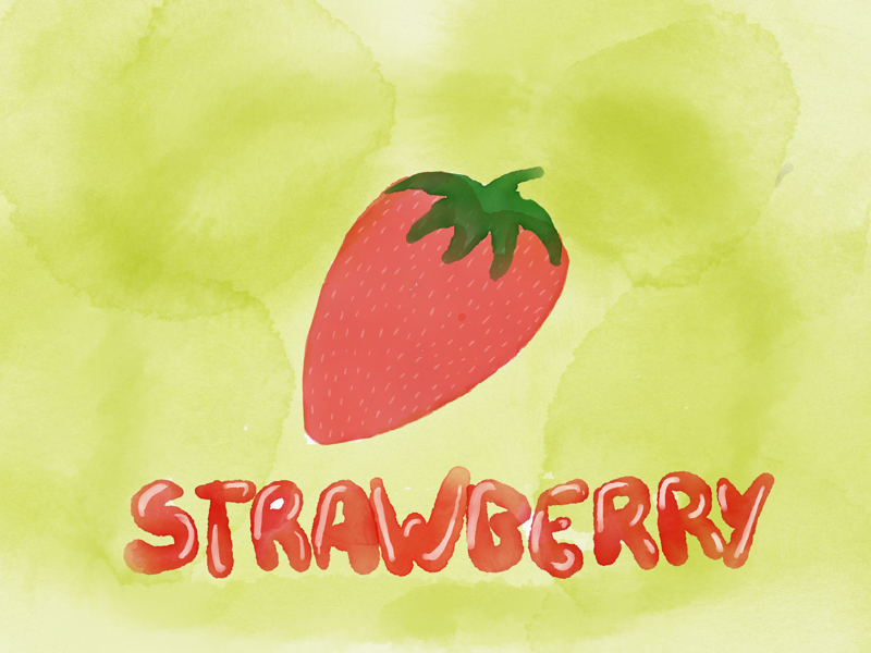 Strawberry illustration shitty strawberry