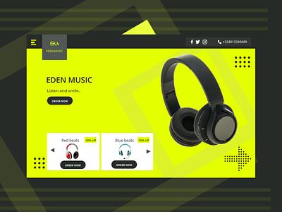 Eden a music website and store. product design figmaafrica design