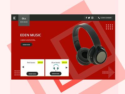 Eden A music app ui product design figma design figma design