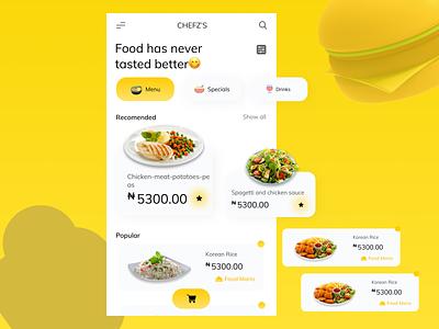 A food app food figma design figma ui figmaafrica design