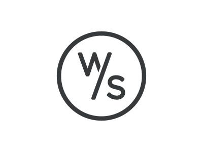 Wier / Stewart Logo logo wierstewart agency ws one color
